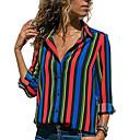 baratos Carros Controle Remoto-Mulheres Camisa Social Básico Listrado