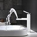 billiga Sprinkle®-badrumskranar-Badrum Tvättställ Kran - Roterbar / Ny Design Målad Finishes Horisontell montering Singel Handtag Ett hålBath Taps