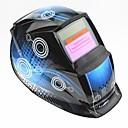 povoljno Sigurnost-plava zavojnica uzorak solarna automatska fotoelektrična maska za zavarivanje