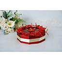 baratos Decorações de Bolo-Redondo Arte de Papel / Tweed Suportes para Lembrancinhas com Estilo Floral Disperso / Caixilhos / Fitas Caixas de Ofertas / Caixas de Presente - 10pçs