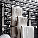 cheap Bath Accessories-Towel Bar Multilayer Modern Stainless steel 1pc - Bathroom / Hotel bath 3-towel bar Wall Mounted