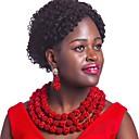 billige Smykke Sæt-Dame Strands halskæde Flerlags Damer Mode afrikansk Østrigsk krystal Øreringe Smykker Lys pink / Hot Pink / Lysebrun Til Bryllup