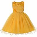 preiswerte Modische Ohrringe-Kinder Mädchen Aktiv Alltag Solide Schleife Ärmellos Knielang Polyester Kleid Rosa 150