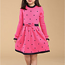 povoljno Haljine za djevojčice-Djeca Djevojčice Osnovni Geometrijski oblici Dugih rukava Haljina Red 140