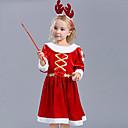 abordables Disfraces de Santa & Vestido de navidad-Disfrace de Cosplay Santa vestir Chica Niños Navidad Navidad Año Nuevo Festival / Celebración Felpa Terileno Accesorios Rojo Vacaciones