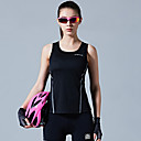 cheap Cycling Underwear & Base Layer-SANTIC Women's Sleeveless Sports Tank Top Black Sky Blue Solid Color Bike Vest / Gilet Winter Sports Polyester Solid Color Mountain Bike MTB Road Bike Cycling Clothing Apparel / Stretchy