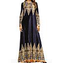 رخيصةأون حقائب توت-فستان نسائي متموج طويل للأرض هندسي
