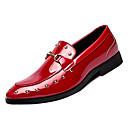 baratos Sapatilhas e Mocassins Masculinos-Homens Sapatos Confortáveis Couro Ecológico Outono Casual Mocassins e Slip-Ons Use prova Preto / Vermelho