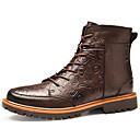 olcso Férfi csizmák-Férfi Fashion Boots Nappa Leather Ősz Alkalmi / Brit Csizmák Melegen tartani Magas szárú csizmák Fekete / Barna