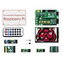 billige Raspberry Pi-tilbehørspakke (type a) til hindbær pi, herunder ekspansionskort dvk512, lcd, moduler og kabler (hindbær pi er ikke inkluderet)
