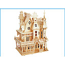 cheap Models & Model Kits-3D Puzzle Jigsaw Puzzle Wood Model Model Building Kit Castle Famous buildings Wood Natural Wood Adults' Unisex Gift
