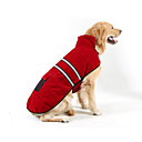 cheap Dog Clothes-Dogs / Cats Puffer / Down Jacket Dog Clothes Stripe Red Plush Fabric Costume For Pets Unisex Ordinary / Leisure