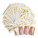 cheap Foil Nail Paper-20 pcs 3D Nail Stickers Creative nail art Manicure Pedicure Best Quality Trendy / Fashion Daily