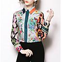 economico Orologio elegante-Camicia Per donna Essenziale Fantasia floreale