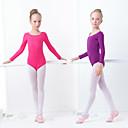 זול בגדי ריקוד לילדים-בלט בגדי גוף בנות הדרכה / הצגה אלסטיין / לייקרה סרט גומי שרוול ארוך / סרבל תינוקותבגד גוף