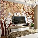 billige Vegglamper-bakgrunns / Veggmaleri Lerret Tapetsering - selvklebende nødvendig Trær / Blader / Mønster / 3D