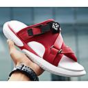 cheap Men's Sandals-Men's Comfort Shoes Denim Summer Sandals White / Black / Red