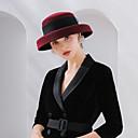 cheap Historical & Vintage Costumes-Elizabeth The Marvelous Mrs. Maisel Women's Adults' Ladies Retro / Vintage Felt Hats Hat Black Red Coffee Bowknot Wool Headwear Lolita Accessories