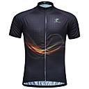ieftine Jerseru Cycling-JESOCYCLING Bărbați Pentru femei Manșon scurt Jerseu Cycling - Negru Dungi Mărime Plus Size Bicicletă Jerseu Topuri Respirabil Uscare rapidă Rezistent la Ultraviolete Sport 100% Poliester Ciclism