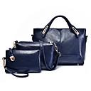 رخيصةأون مجموعات حقائب-نسائي أكياس PU مجموعات حقيبة 3 قطع محفظة مجموعة سحاب ألوان متناوبة أسود / أحمر / بني