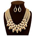 abordables Juegos de Joyería-Mujer Oro Cadena gruesa Conjunto de joyas Diamante Sintético Diseño Único, Hipérbole Incluir Collares Declaración Dorado Para Boda Fiesta