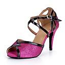 abordables Zapatos de Baile Latino-Mujer Sintéticos Zapatos de Baile Latino Brillante Sandalia / Tacones Alto Slim High Heel Fucsia / Rendimiento / Cuero