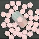 billige Negle Sticker-50 pcs Negle Smykker Multifunktionel / Bedste kvalitet Blomst Negle kunst Manicure Pedicure Daglig Sød / Mode