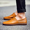 זול נעלי בד ומוקסינים לגברים-בגדי ריקוד גברים מוקסין עור סתיו / אביב קיץ יום יומי / בריטי נעליים ללא שרוכים נושם שחור / לבן / צהוב