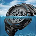 Недорогие Армейские часы-SKMEI Муж. Спортивные часы Армейские часы Цифровой Стеганная ПУ кожа Черный / Зеленый 50 m Защита от влаги Календарь Секундомер Цифровой Роскошь На каждый день - Красный Зеленый Синий / Хронометр