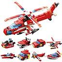 levne Building Blocks-Stavební bloky 52 pcs Armáda Loď Helikoptéra kompatibilní Legoing Transformovatelné Jednoduchý Hasiči Letadlo Člun Vše Hračky Dárek