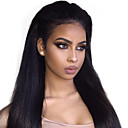cheap Human Hair Wigs-Virgin Human Hair Remy Human Hair 360 Frontal Wig Brazilian Hair Natural Straight Black Wig 150% Density with Baby Hair Soft Silky Best Quality 100% Virgin Natural Black Women's Long Human Hair Lace