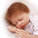זול בובות-NPK DOLL בובה מחדש תינוקות בנות 22 אִינְטשׁ סיליקון ויניל - כְּמוֹ בַּחַיִים Cute עבודת יד בטוח לשימוש ילדים Non Toxic חמוד הילד של בנות צעצועים מתנות / אינטראקציה בין הורים לילד / CE / עור טבעי