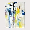 povoljno Apstraktno slikarstvo-Hang oslikana uljanim bojama Ručno oslikana - Sažetak Klasik Moderna Bez unutrašnje Frame / Valjani platno
