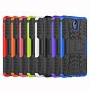 お買い得  携帯電話ケース-ケース 用途 Nokia Nokia 8 / Nokia 6 / Nokia 6 2018 耐衝撃 / スタンド付き バックカバー タイル柄 / 鎧 ハード PC