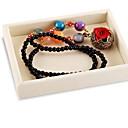 levne Ukládání šperků-Úložný prostor Organizace Sbírka šperků Bavlna Čtvercový Zábavné