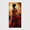 abordables Portraits-Peinture à l'huile Hang-peint Peint à la main - Personnage Moderne Sans cadre intérieur / Toile roulée