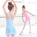 billige Dansetøj til børn-Ballet Kjoler Pige Træning / Ydeevne Elastin / Lycra Kryds & Tværs / Kombination Kjole