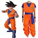 """billige Anime Cosplay Parykker-Inspirert av Dragon Ball Son Goku Anime  """"Cosplay-kostymer"""" Cosplay Klær Bokstaver N / A / Topp / Bukser Til Unisex"""