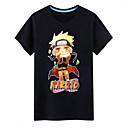 preiswerte Zeichentrick - Kapuzenpullover & Pullover-Inspiriert von Naruto Naruto Uzumaki Anime Cosplay Kostüme Cosplay-T-Shirt Druck Kurzarm Top Für Herrn