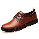 tanie Oksfordki męskie-Męskie Komfortowe buty Skóra Jesień Oksfordki Czarny / Brązowy