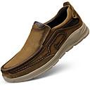 tanie Męskie mokasyny-Męskie Skórzane buty Skóra nappa Jesień i zima Klasyczny / Casual Mokasyny i buty wsuwane Masaż Brązowy / Khaki