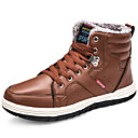 cheap Men's Boots-Men's Comfort Shoes Leather Winter Casual Boots Keep Warm Black / Brown / Blue