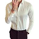 preiswerte Kleidung für Lateinamerikanischen Tanz-Herrn Solide Baumwolle Hemd, Klassischer Kragen Schlank Schimmernd / Langarm