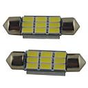 baratos Faixas de Luzes LED-2pcs 39mm / 36mm / 41mm Carro Lâmpadas 2W SMD 5630 215lm 9 Lâmpada de  Leitura