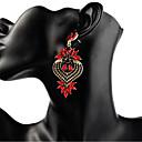 povoljno Modne naušnice-Žene Sintetički dijamant Viseće naušnice dame Stilski Klasik Naušnice Jewelry Crvena / Zelen / Svjetlosmeđ Za Dnevno 1 par