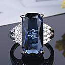cheap Bracelets-Women's Cubic Zirconia Vintage Style Band Ring - S925 Sterling Silver Flower Classic, Vintage, Elegant Jewelry Blue For Wedding Engagement Ceremony 6 / 7 / 8 / 9