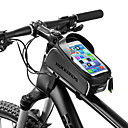 cheap Bike Frame Bags-ROCKBROS Cell Phone Bag / Bike Frame Bag 6 inch Waterproof Cycling for Cycling / All Phones / iPhone X Black