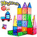 cheap Coffee and Tea-Attop Magnetic Blocks Magnetic Tiles 218 pcs Creative Geometric Pattern Color Gradient All Boys' Girls' Toy Gift