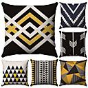 cheap Pillow Covers-6 pcs Cotton / Linen Pillow Case, Simple Geometic Simple Geometric