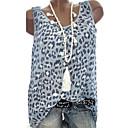 povoljno Modne ogrlice-Veći konfekcijski brojevi Bluza Žene Dnevno Geometrijski oblici / Color block Leopard Print / Print Blushing Pink / Proljeće / Ljeto / Jesen